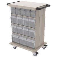 Storage and Transport Carts feature a workheight top for added workspace